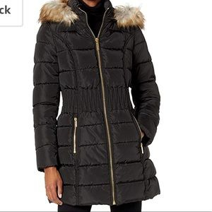Laundry By Design black 3/4 puffer jacket